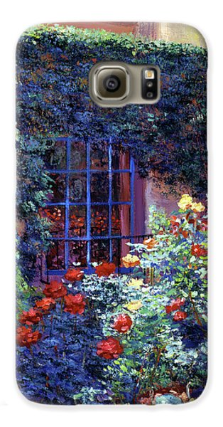 Beverly Hills Galaxy S6 Case - Guesthouse Rose Garden by David Lloyd Glover