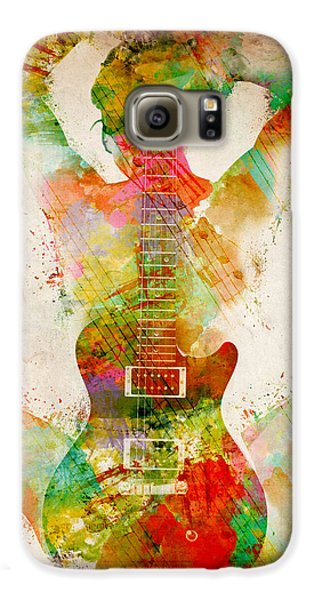 Jazz Galaxy S6 Case - Guitar Siren by Nikki Smith