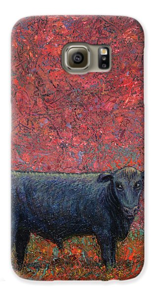 Bull Galaxy S6 Case - Hamburger Sky by James W Johnson