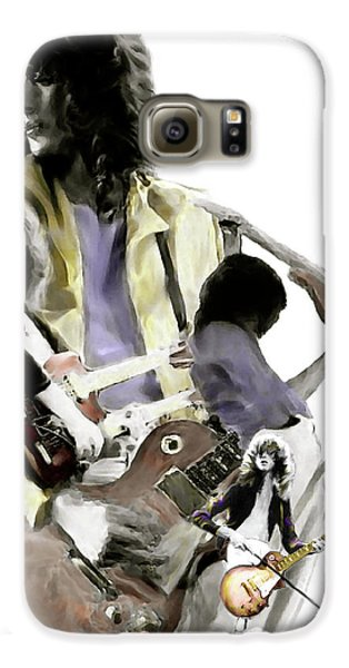 Hammer Of The Gods   Jimmy Page Galaxy S6 Case by Iconic Images Art Gallery David Pucciarelli