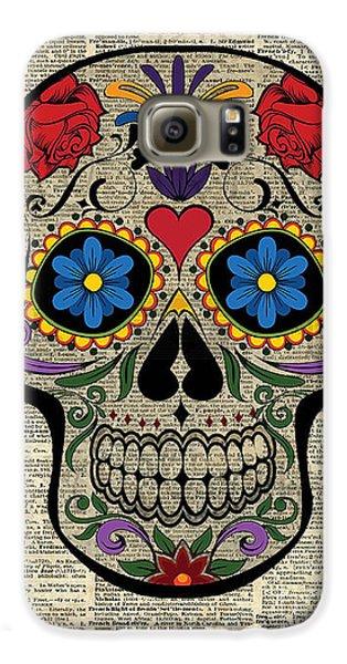 Happy Skull,sugar Skull,dia De Los Muertos,halloween Artwork Galaxy S6 Case
