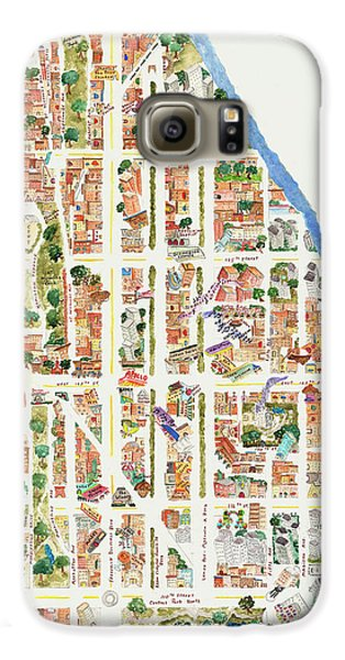 Harlem From 110-155th Streets Galaxy S6 Case by Afinelyne
