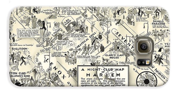 Harlem Galaxy S6 Case - Harlem Prohibition Nightclub Map 1926 by Daniel Hagerman