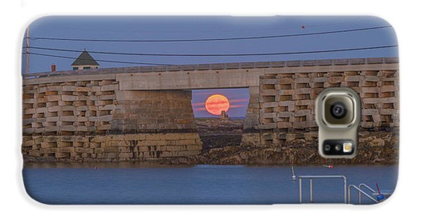 Harvest Moon Over Harpswell Galaxy S6 Case