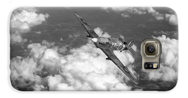 Galaxy S6 Case featuring the photograph Hawker Hurricane IIb Of 174 Squadron Bw Version by Gary Eason