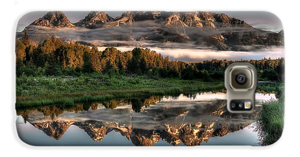 Mountain Galaxy S6 Case - Hazy Reflections At Scwabacher Landing by Ryan Smith