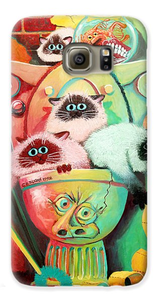 Goldfish Galaxy S6 Case - Head Cleaners by Baron Dixon
