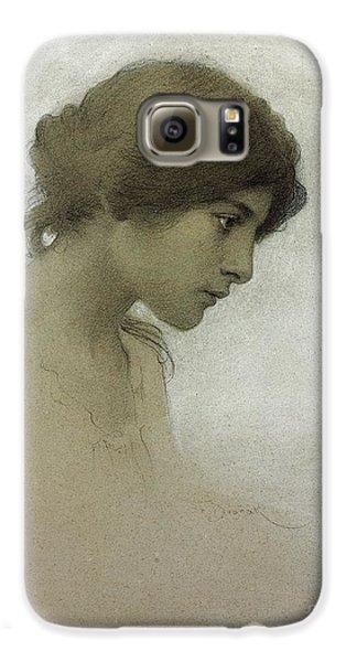 Portraits Galaxy S6 Case - Head Of A Girl  by Franz Dvorak