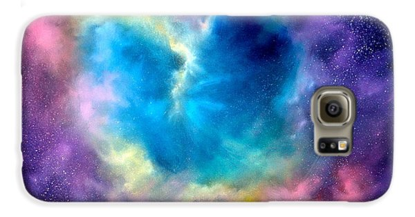 Heart Of The Universe Galaxy S6 Case by Sally Seago