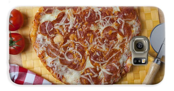 Heart Shaped Pizza Galaxy S6 Case by Garry Gay