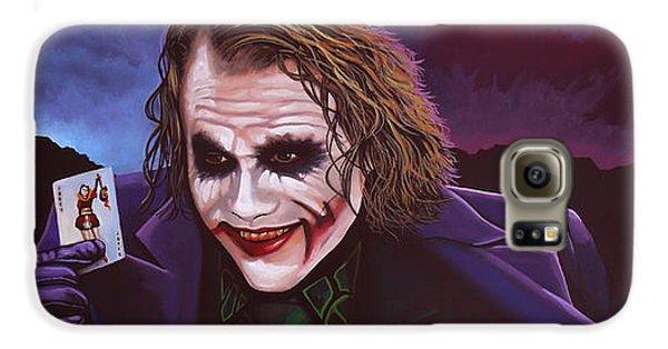 Knight Galaxy S6 Case - Heath Ledger As The Joker Painting by Paul Meijering