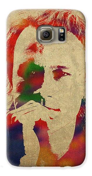 Heath Ledger Watercolor Portrait Galaxy S6 Case
