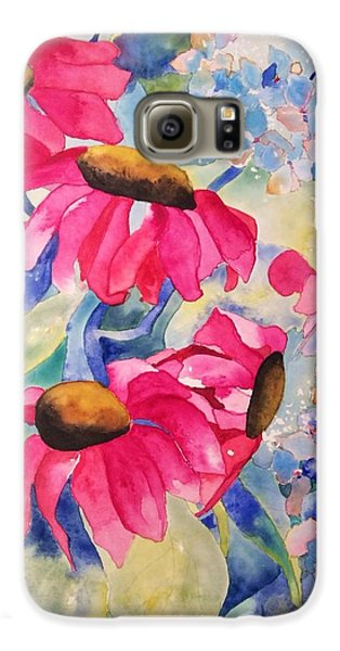 Galaxy S6 Case featuring the painting Heaven Smiles Down by Patti Ferron