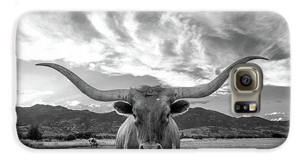 Cow Galaxy S6 Case - Heber Valley Longhorn by Johnny Adolphson