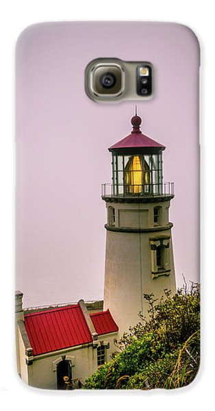 Heceta Head Lighthouse In The Fog Galaxy S6 Case