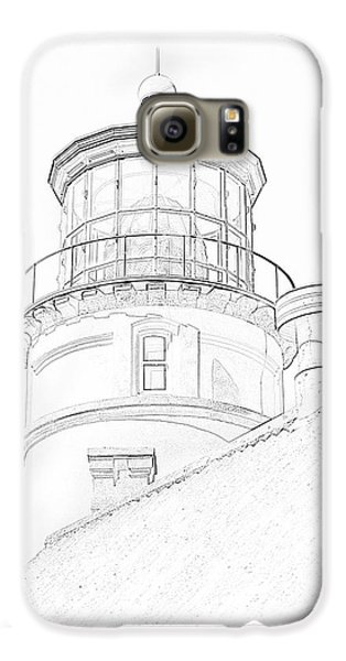 Hecitia Head Lighthouse Sketch Galaxy S6 Case