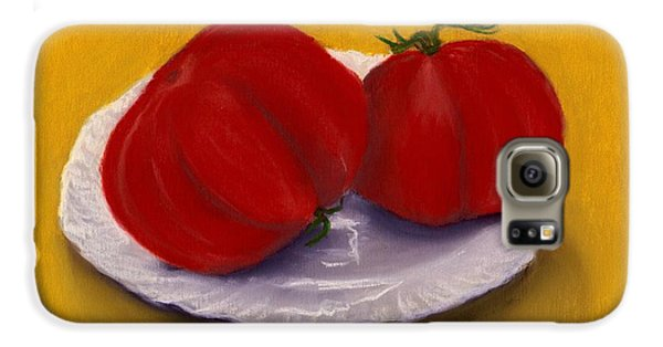Galaxy S6 Case featuring the drawing Heirloom Tomatoes by Anastasiya Malakhova