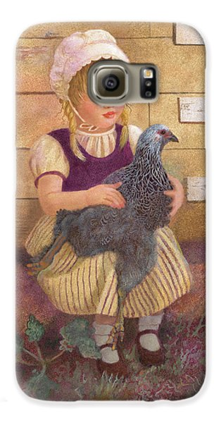 Galaxy S6 Case featuring the painting Heritage Hen Brahma Chicken by Nancy Lee Moran