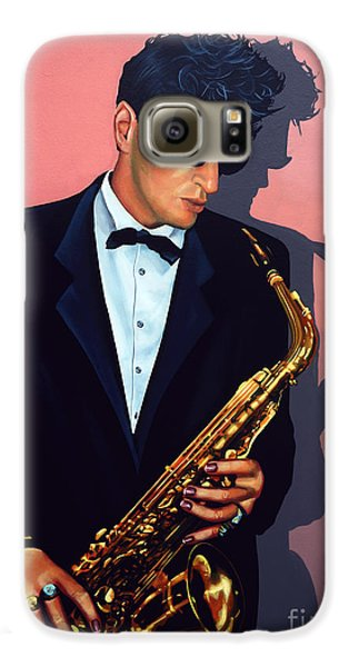 Saxophone Galaxy S6 Case - Herman Brood by Paul Meijering