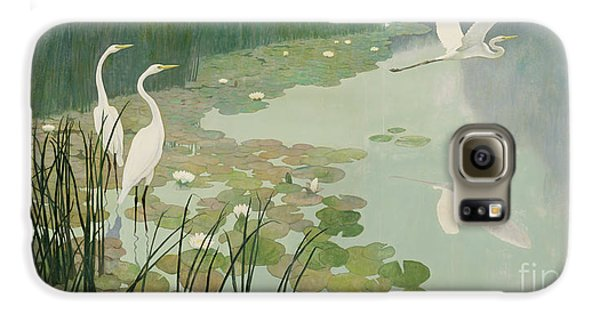 Herons In Summer Galaxy S6 Case by Newell Convers Wyeth