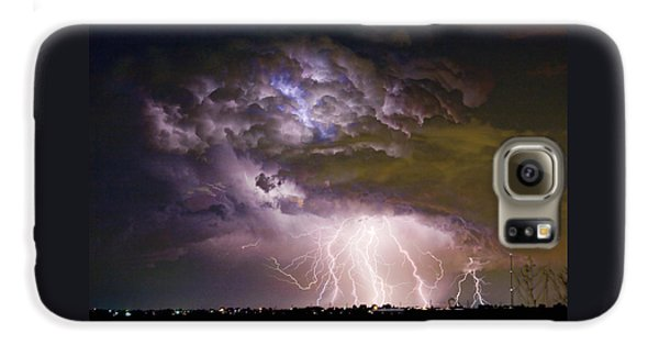 Highway 52 Storm Cell - Two And Half Minutes Lightning Strikes Galaxy S6 Case