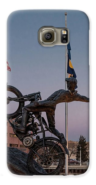 Galaxy S6 Case featuring the photograph Hill Climber Catches The Moon by Randy Scherkenbach