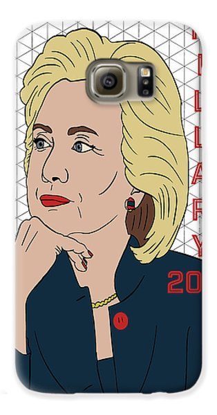 Hillary Clinton 2016 Galaxy S6 Case by Nicole Wilson
