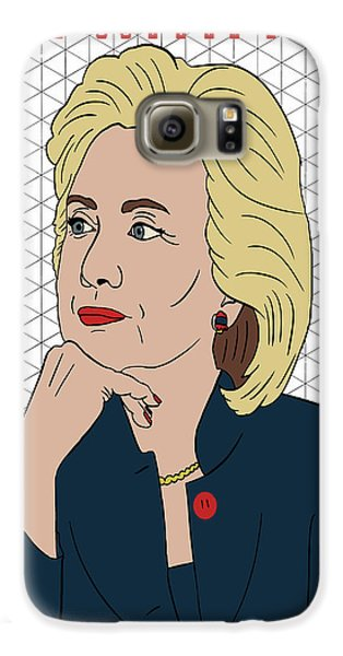 Hillary Clinton I'm With Her Galaxy S6 Case by Nicole Wilson