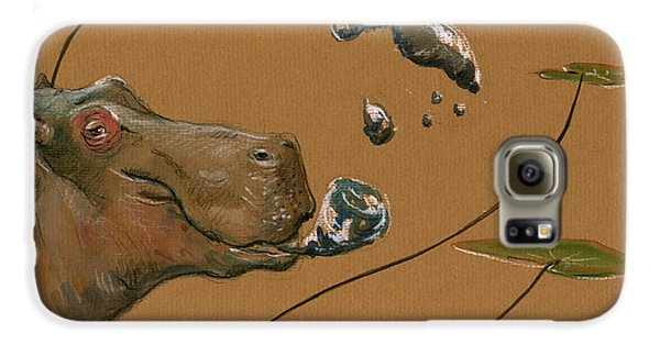 Hippo Bubbles Galaxy S6 Case