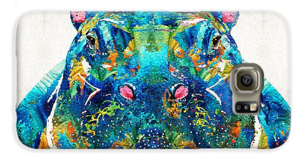 Hippopotamus Art - Happy Hippo - By Sharon Cummings Galaxy S6 Case