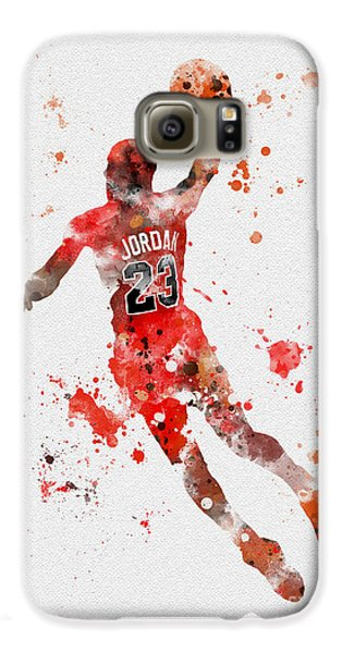 His Airness Galaxy S6 Case by Rebecca Jenkins