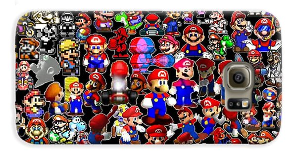 History Of Mario Mosaic Galaxy S6 Case