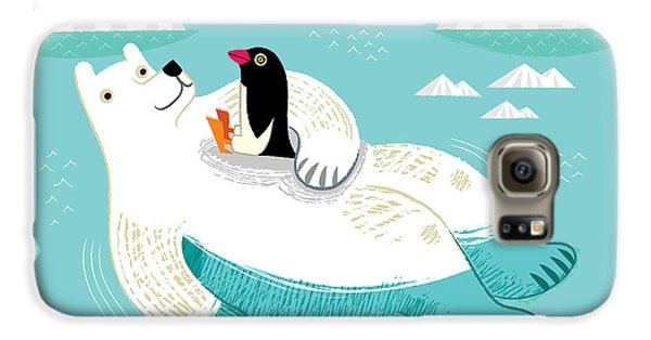 Penguin Galaxy S6 Case - Hitching A Ride by Oliver Lake