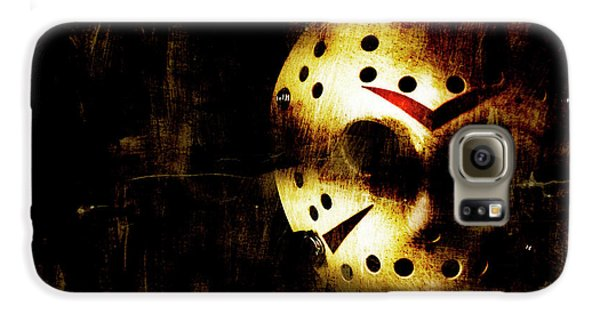Hockey Galaxy S6 Case - Hockey Mask Horror by Jorgo Photography - Wall Art Gallery