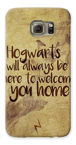 Wizard Galaxy S6 Case - Hogwarts Is Home by Samuel Whitton