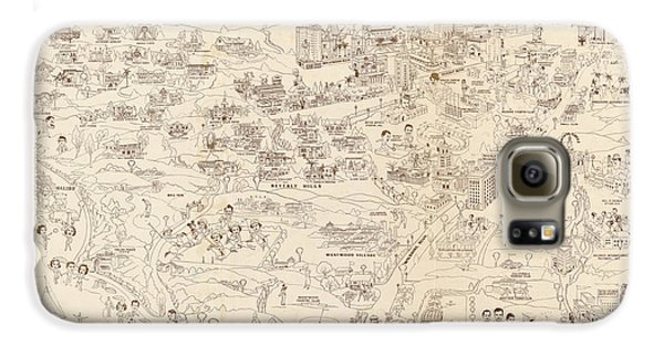 Hollywood Map To The Stars 1937 Galaxy S6 Case by Don Boggs