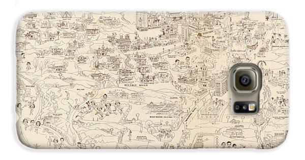 Hollywood Map To The Stars 1937 Galaxy S6 Case