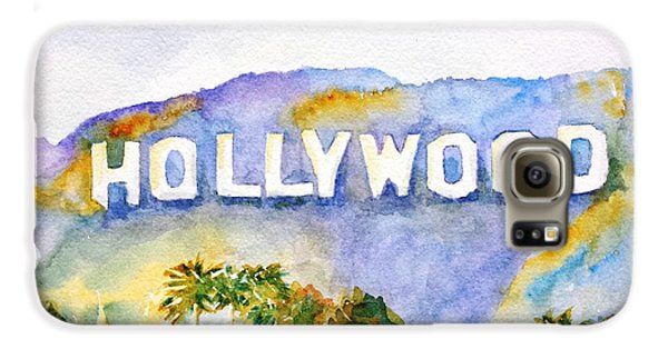Los Angeles Galaxy S6 Case - Hollywood Sign California by Carlin Blahnik CarlinArtWatercolor