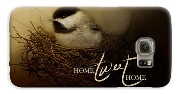 Home Tweet Home With Words Galaxy S6 Case by Jai Johnson