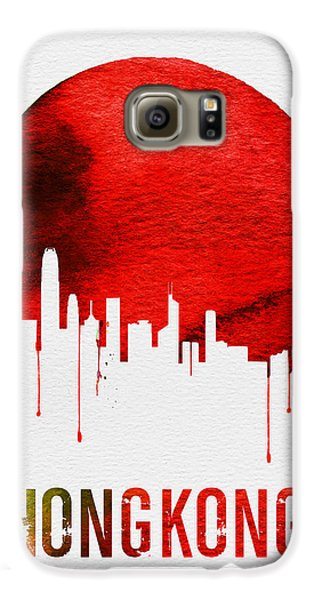 Hong Kong Skyline Red Galaxy S6 Case by Naxart Studio