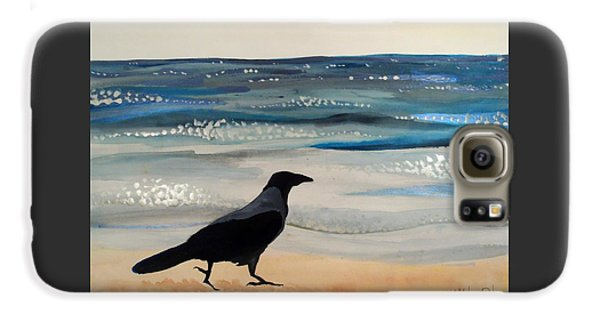 Hooded Crow At The Black Sea By Dora Hathazi Mendes Galaxy S6 Case