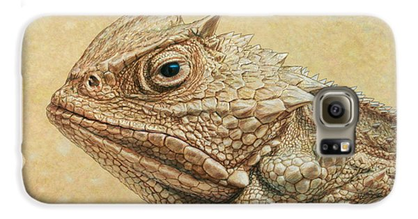 Amphibians Galaxy S6 Case - Horned Toad by James W Johnson