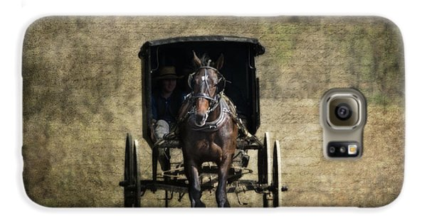 Horse And Buggy Galaxy S6 Case by Tom Mc Nemar