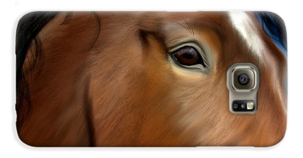 Horse Portrait Close Up Galaxy S6 Case