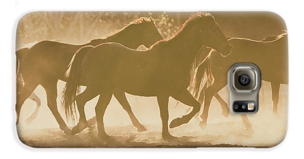Galaxy S6 Case featuring the photograph Horses And Dust by Ana V Ramirez