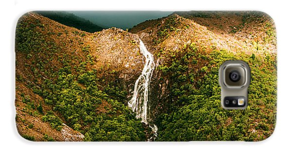 Horsetail Falls In Queenstown Tasmania Galaxy S6 Case by Jorgo Photography - Wall Art Gallery