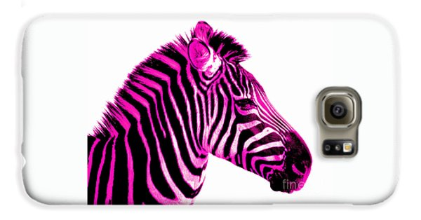 Hot Pink Zebra Galaxy S6 Case