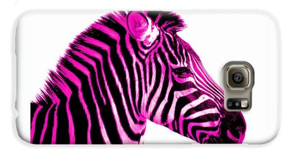 Hot Pink Zebra Galaxy S6 Case by Rebecca Margraf