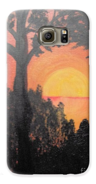 Galaxy S6 Case featuring the painting Hot by Saundra Johnson