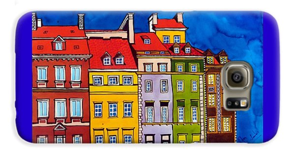 Houses In The Oldtown Of Warsaw Galaxy S6 Case by Dora Hathazi Mendes